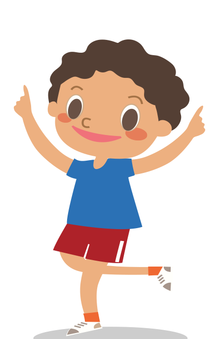 Animated Child running at day Camp