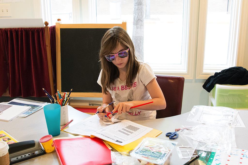 Girl in Sensory Integration Class