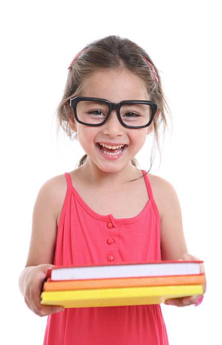 Girl in Black Glasses Holding Books