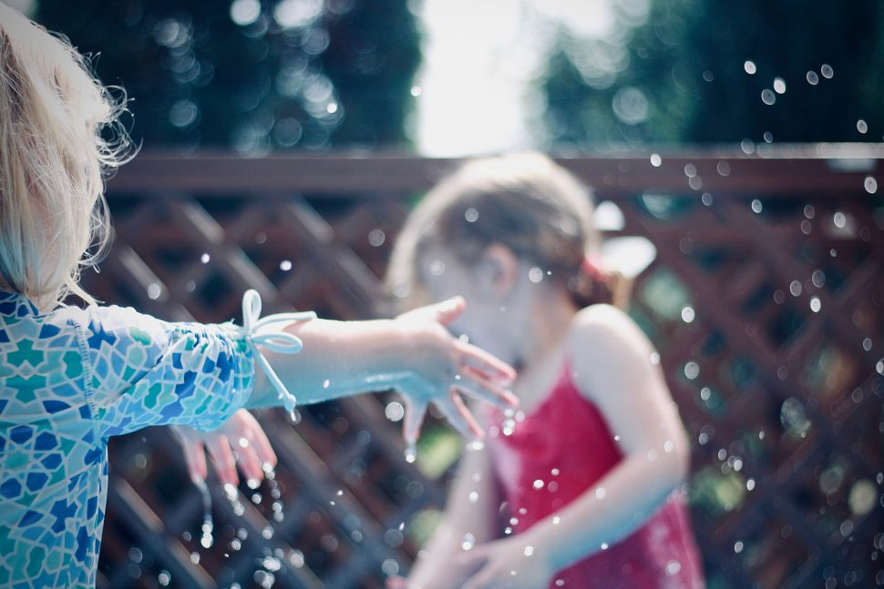 Myths of autism, children playing in water