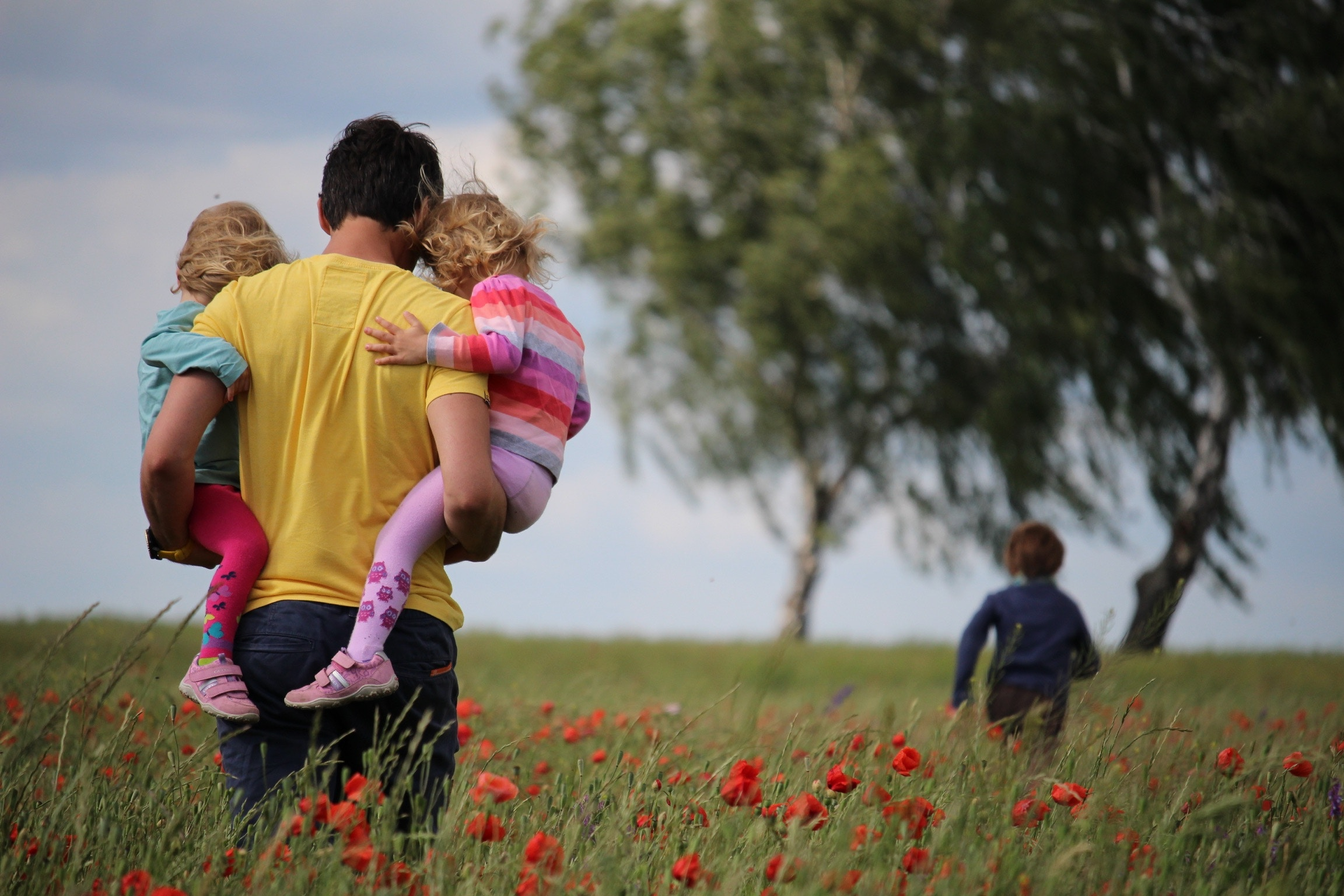 DFW ABA Therapy, family in flower field
