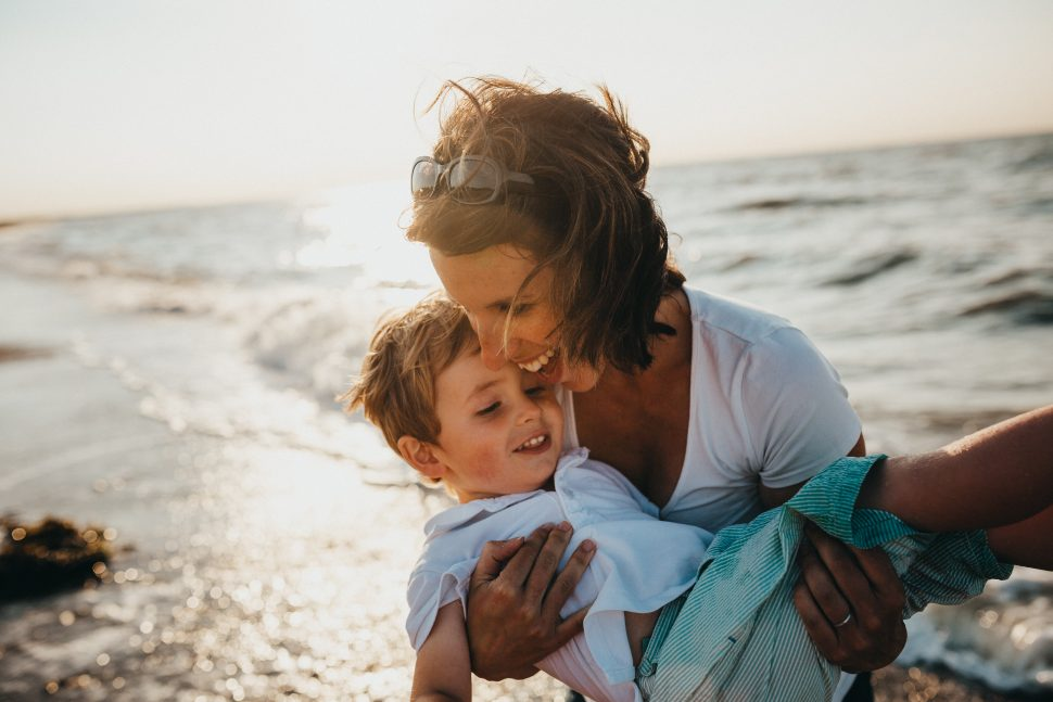 mother and child beside body of water Cognitive Behavioral Therapy