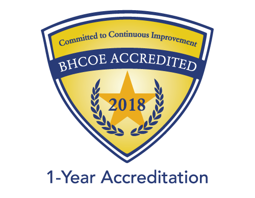BHCOE Accreditation badge