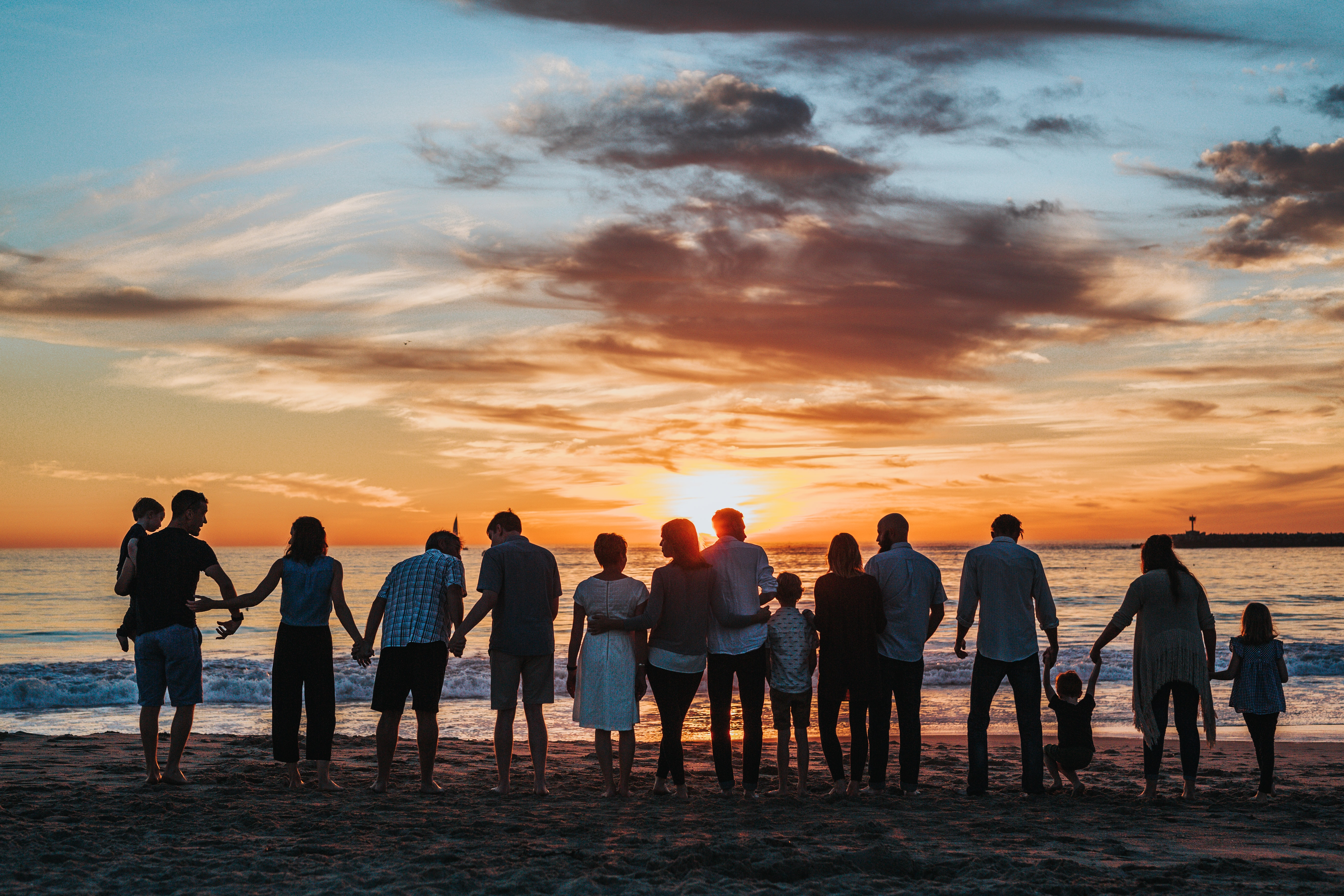 Family at sunset talking about Autism Treatments